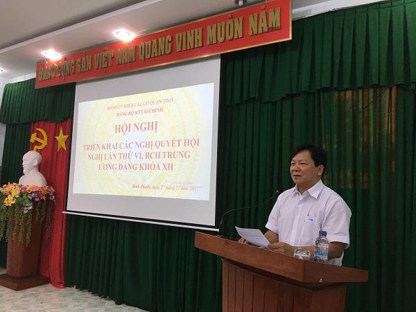 Hội Nghị triên khai các Nghị quyết hội nghị lần thứ 6,BCH trung ương khóa XII